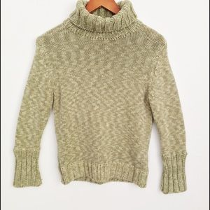 🌸Gap Vintage Green Chunky Turtleneck Sweater M